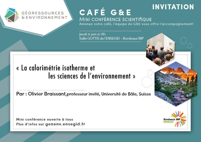 café G&E conférence scientifique