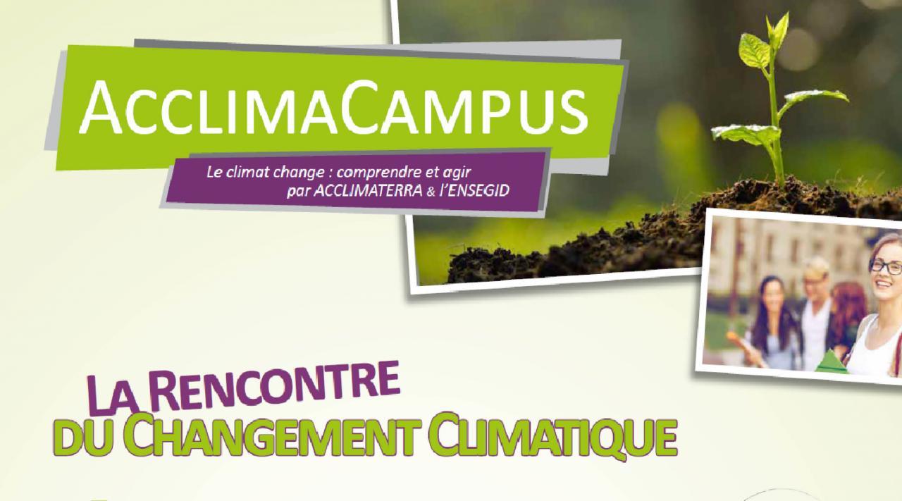 AcclimaCampus - L'évènment des enjeux environnementaux