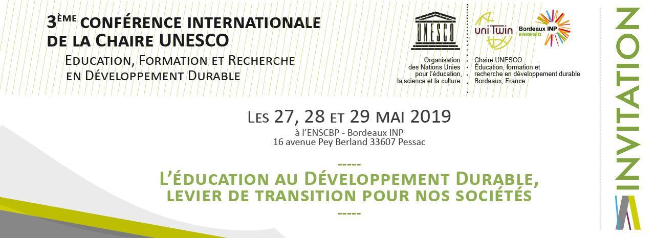 Invitation 3ème conférence UNESCO DD