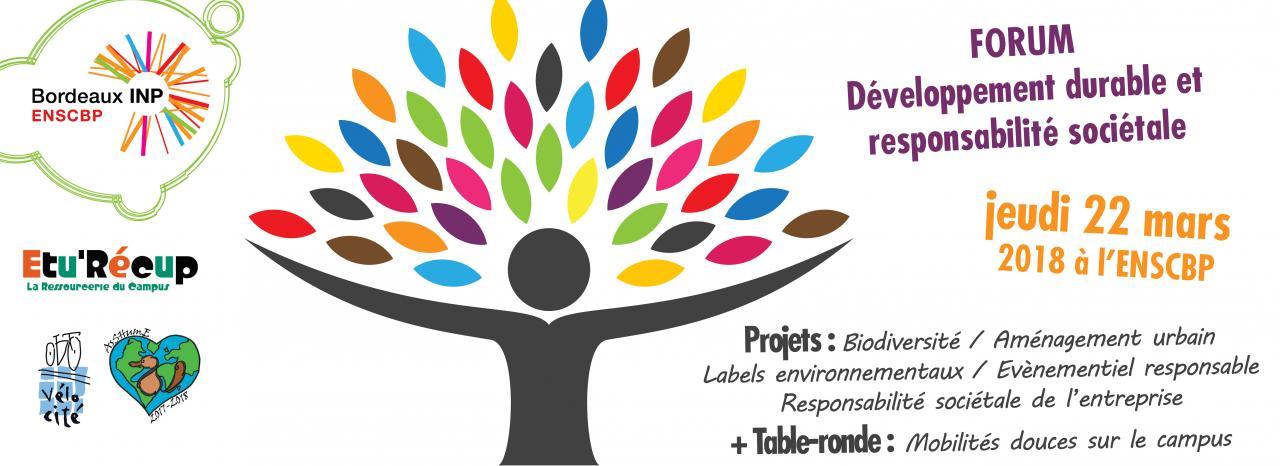Forum Développement durable et responsabilité sociétale de l'ENSCBP