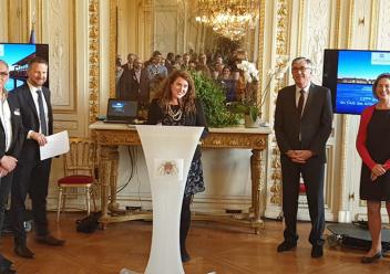 Nathalie Deltimple, enseignant-chercheur ENSEIRB-MATMECA décorée par la Ville de Bordeaux